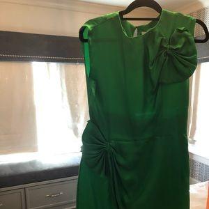 DVF Silk Green Dress